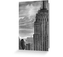 Empire State  Building Pencil Drawing Greeting Card