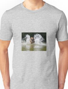Dog in water Unisex T-Shirt