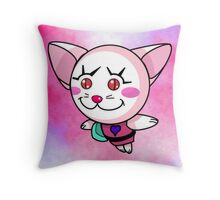 Kitty Pow Pow: Invert Pinky Pow! Pow! Throw Pillow