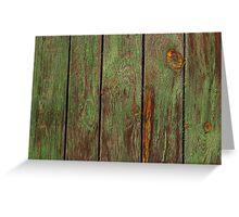 Old Wooden Texture Greeting Card