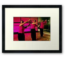 Dance of the Dragon - Filming of a DVD Framed Print