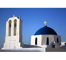 Chapels in Blue & White Photographic Print