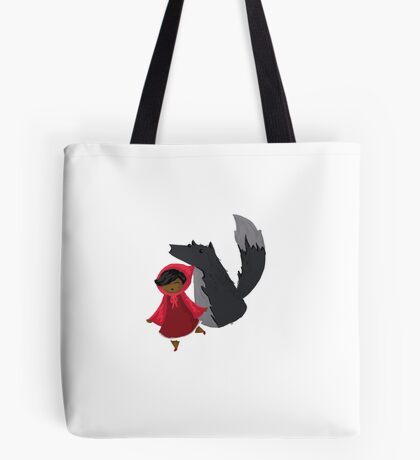 Wolf and Little Red - Alida Allen-Dahl Tote Bag