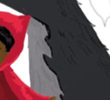 Wolf and Little Red - Alida Allen-Dahl Sticker