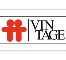 Celebrate Star Wars Vintage Toys in the Top Toys Style Logo (White) Sticker