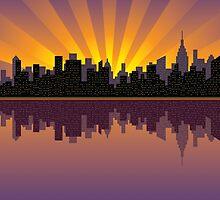 Manhattan Skyline by Lisann