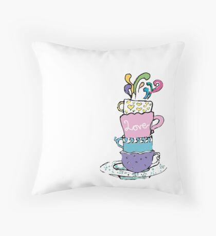 Love and Tea - Gabby Basso Throw Pillow