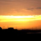 sunrise over steelworks by flynny