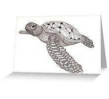 Tangled Sea Turtle Greeting Card