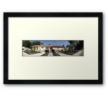 Panoramic pic of floridian house (frontside) Framed Print