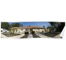 Panoramic pic of floridian house (frontside) Poster