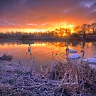 Winter river Stour Sunrise by AntonyB