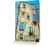 Old Building medieval quarter - Capri Greeting Card