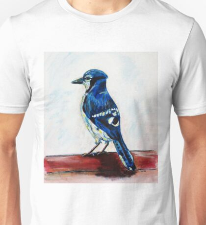 Blue Jay Painting Wildlife Bird Art  Unisex T-Shirt