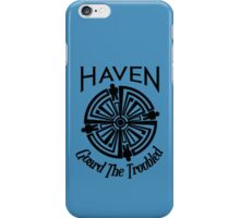 Haven Troubled Tattoo Black Logo iPhone Case/Skin