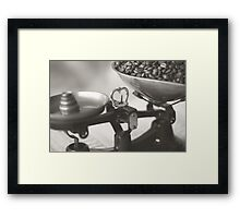 Weighing up Coffee Framed Print