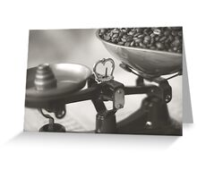 Weighing up Coffee Greeting Card