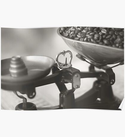 Weighing up Coffee Poster