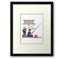 fishing t-shirt Framed Print