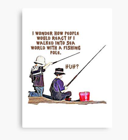 fishing t-shirt Canvas Print
