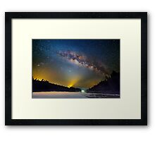 Lighting up the milky way Framed Print