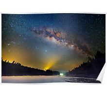 Lighting up the milky way Poster