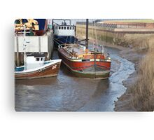 Barge in Canvas Print