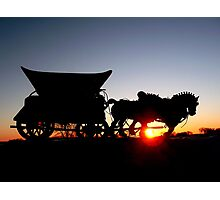 Riding into the Sunset... Photographic Print