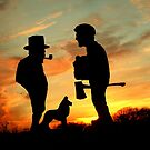 Old friends Converge at Dusk... by Larry Trupp