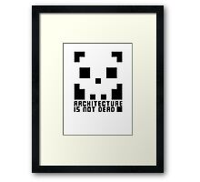 Architecture Is Not Dead Architecture Tshirt Framed Print