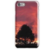 Flames in the sky - Summer sunset  iPhone Case/Skin