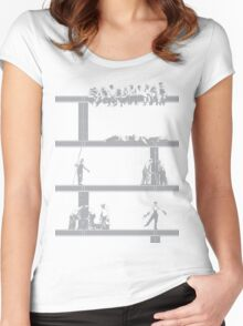IronWorkers Grey Women's Fitted Scoop T-Shirt
