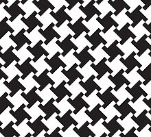 Squared Houndstooth by Lisann