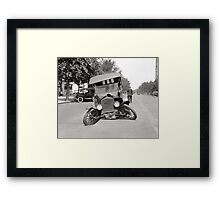 Automobile Crash, 1922 Framed Print