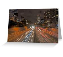 7th street and Harbor freeway Greeting Card