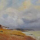 Coming storm on the bay of Hythe by Beatrice Cloake Pasquier