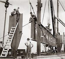 New York City Steelworkers, 1913 by historyphoto