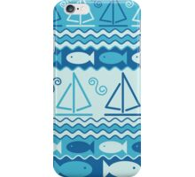 Sailboats and Fishes iPhone Case/Skin