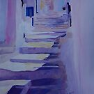 Enchanting Mykonos Greece View with Stairs  by artshop77