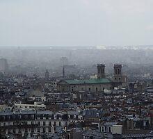 Misty Paris Skyline I by shane22