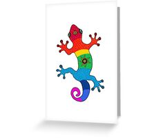 Rainbow salamander Greeting Card