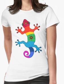 Rainbow salamander Womens Fitted T-Shirt