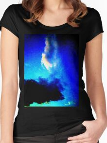 Blue Clouds Women's Fitted Scoop T-Shirt