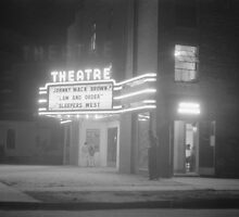 Movie Theater at Night, 1941 by historyphoto