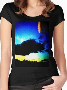Blue Sunset Women's Fitted Scoop T-Shirt