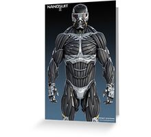 Nanotechnology Crysis 2 Greeting Card