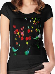 Flowers in Tubs Women's Fitted Scoop T-Shirt