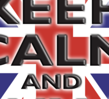 UNION JACK, FLAG, KEEP CALM & BUY A BEER, UK, ON BLACK Sticker