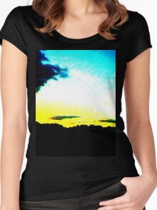 White Sunset Women's Fitted Scoop T-Shirt
