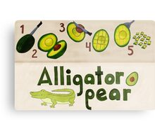Alligator Pear Metal Print